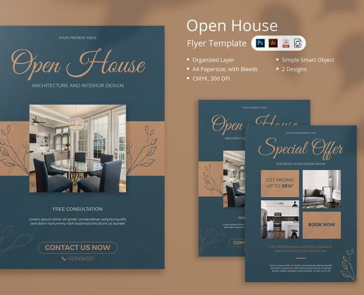 18+ FREE Open House Flyer Template PSD Download