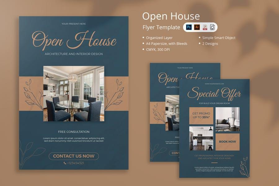A4 Open House Invitation