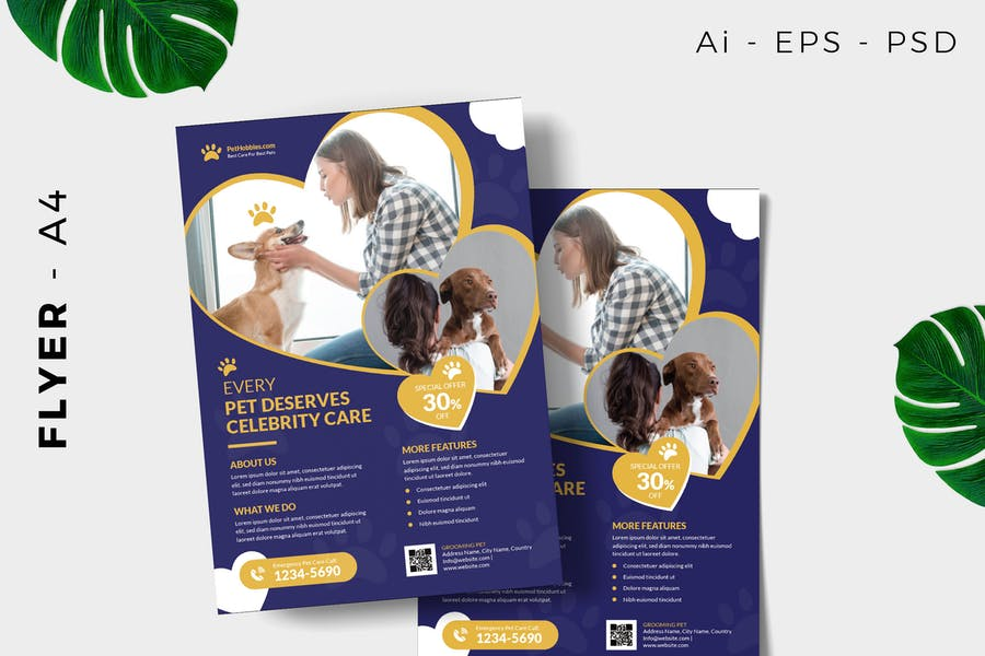 A4 Pet Care Poster Template