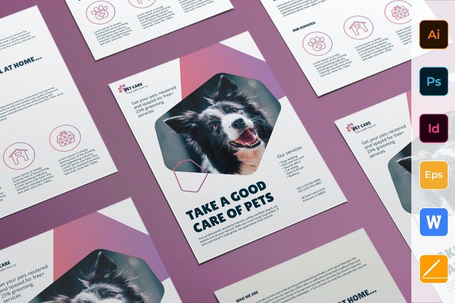 A4 Pet Grooming Flyer