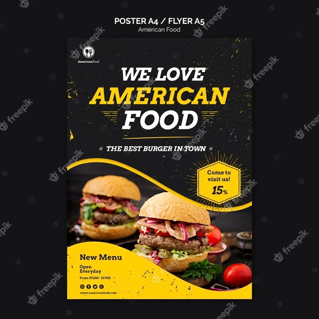 A4 and A5 Food Flyer