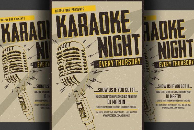 A5 Karaoke Night Flyer