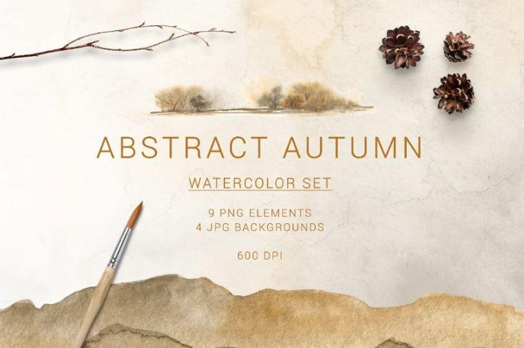 Abstract Autumn Set