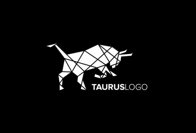Abstract Bull Logo Design
