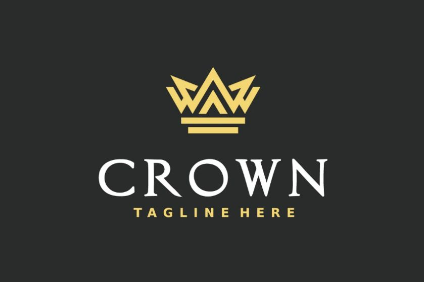 Abstract Crown Branding Identity