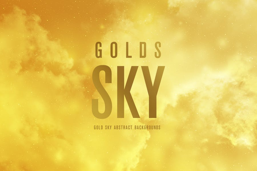 Abstract Gold Sky Backgrounds