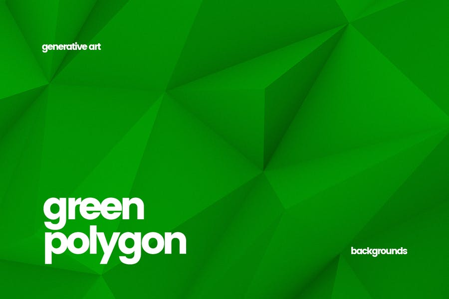 Abstract Green Polygon Backgrounds
