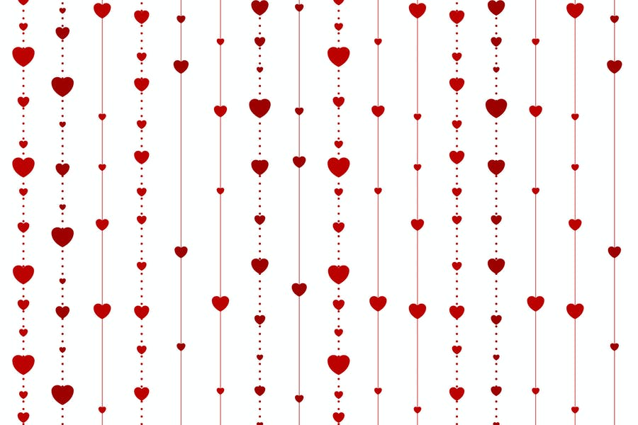 Abstract Hearts Background Design