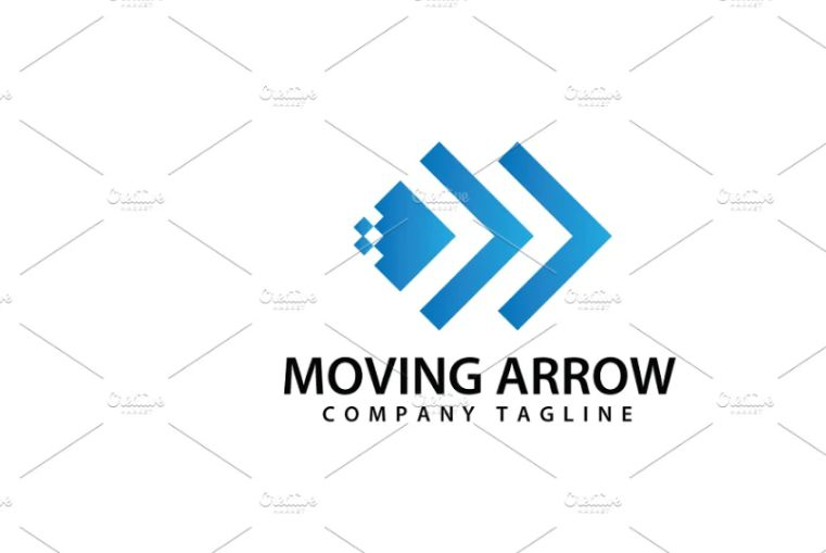 Abstract Moving Arrow Identity Design