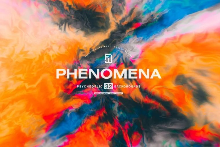 Abstract Psychedelic Background Designs