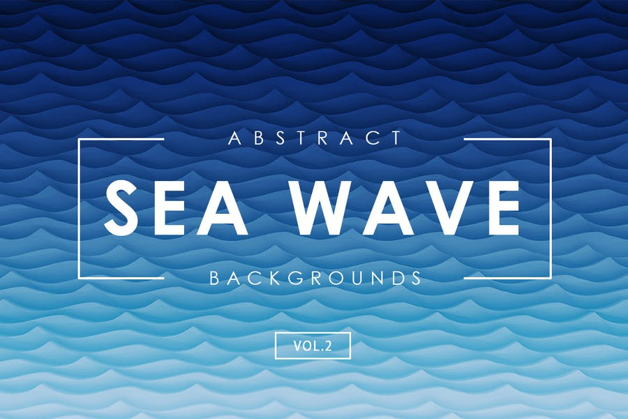 Abstract Sea Waves Background