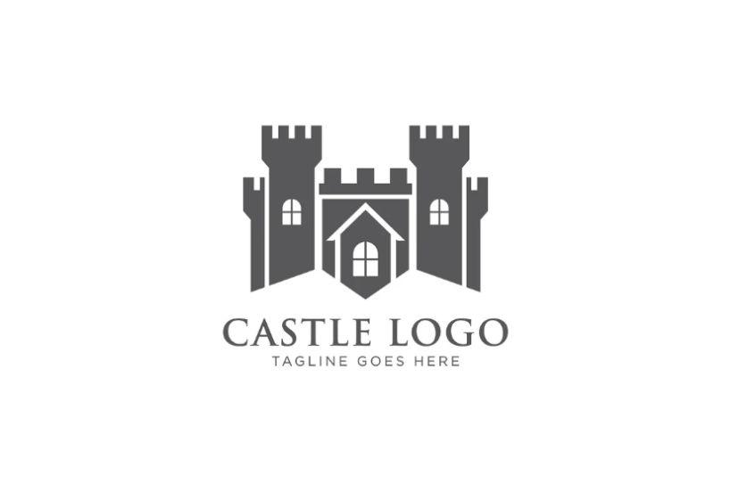 Abstract Style Castle Logo Desig