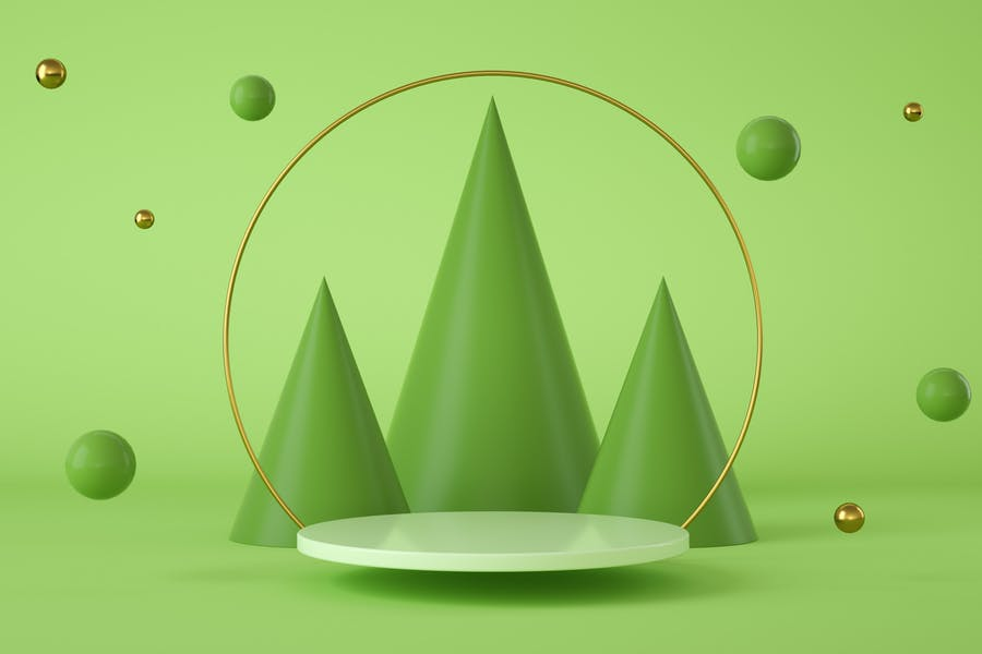 Abstract and Modern Green Wallpaper