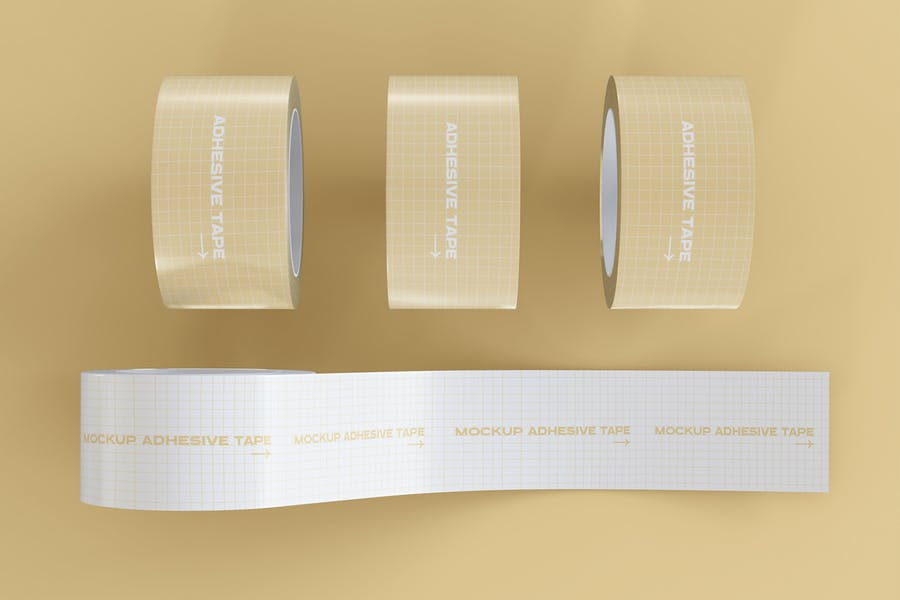 Adhesive Tape Mockup PSD