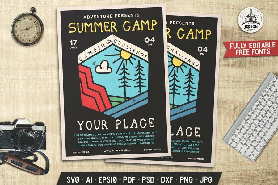 Adventure Camp Flyer Templates