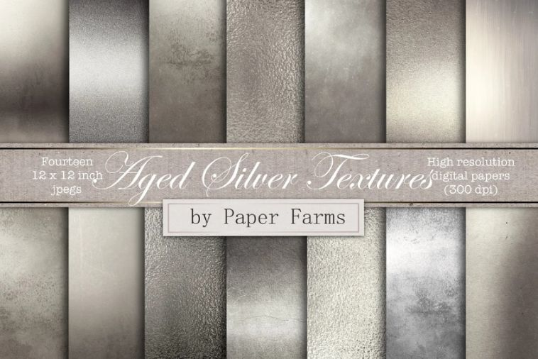 Aged Silver Backgrounds