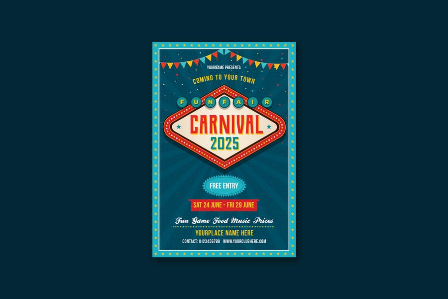 Ai Carnival Flyer Template