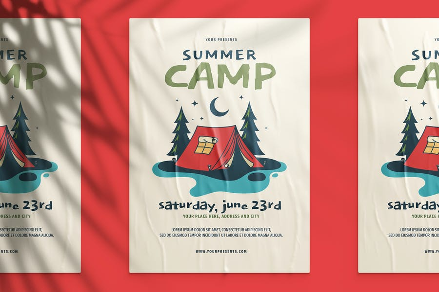 Ai and PSD Summer Camp Flyer Design