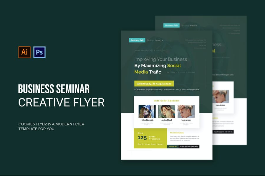 Ai and PSd Seminar Flyer Design