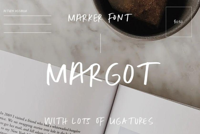 All Caps Marker Fonts