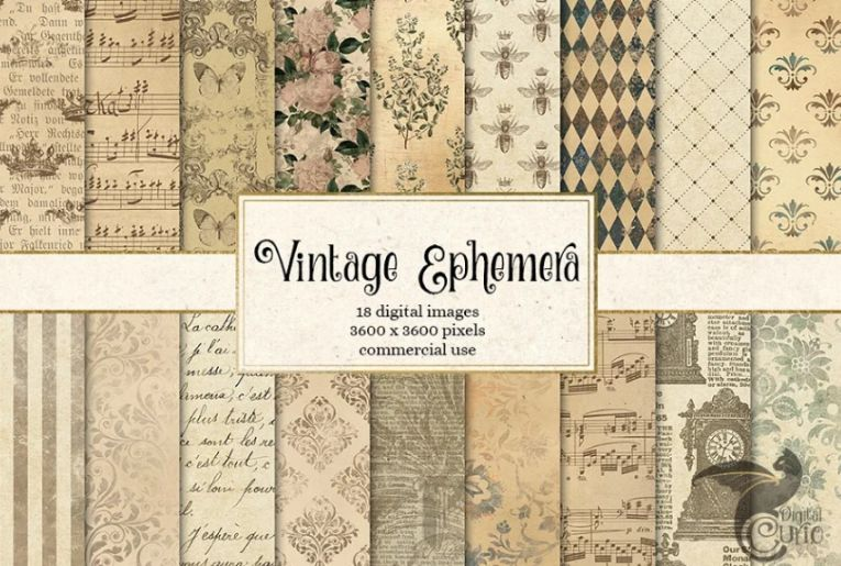 Antique Ephemera Paper Textures