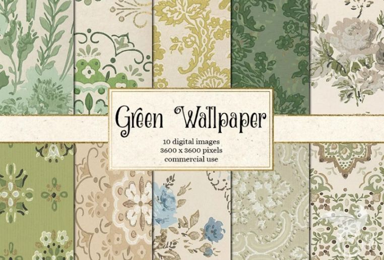 Antique Green Wallpaper Backgrounds