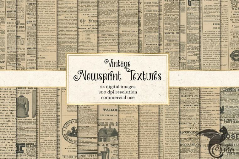 Antique Newspaper Texture Design