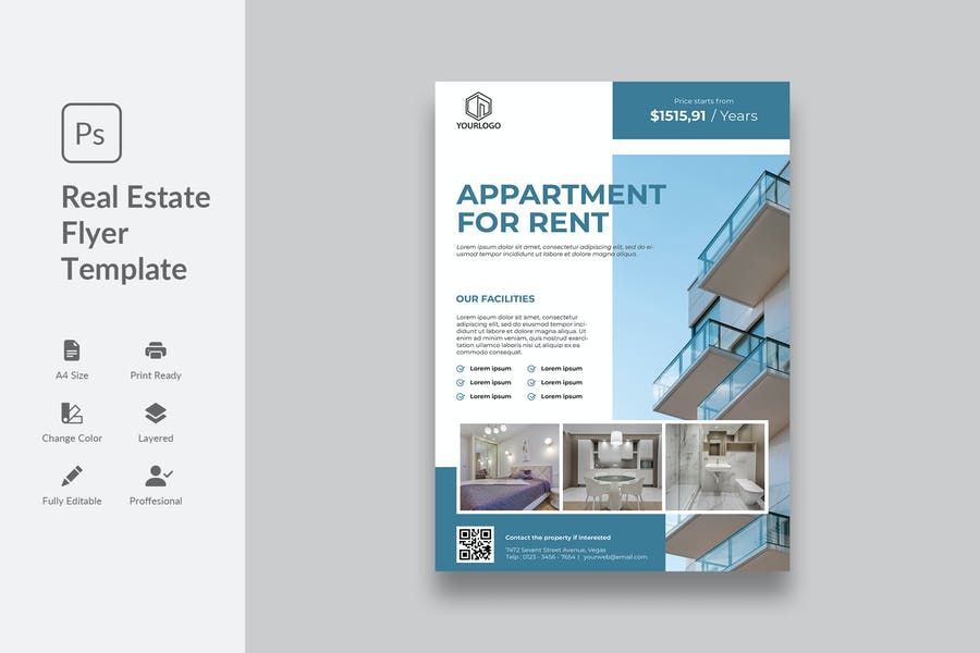 Apartment Sale Flyer Template
