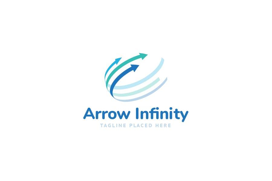 Arrow infinity Logo Identity
