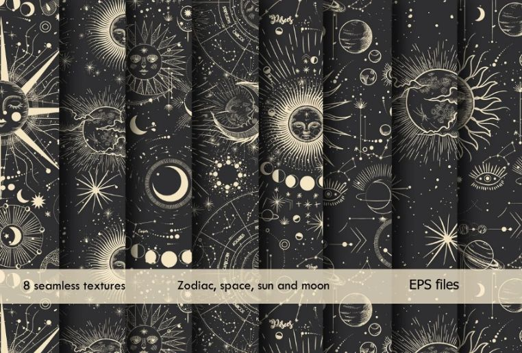 Astronomy Space Pattern Set