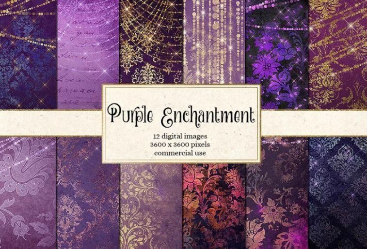 Attractive Purple Background Designs