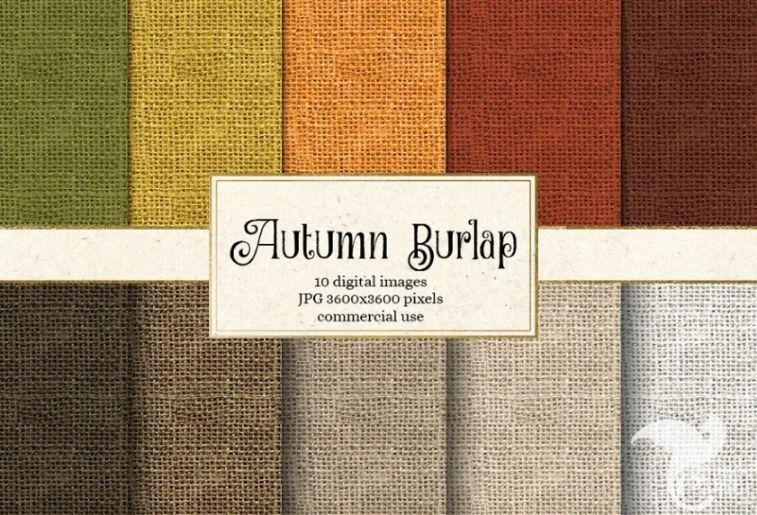 Autumn Burlap Textures