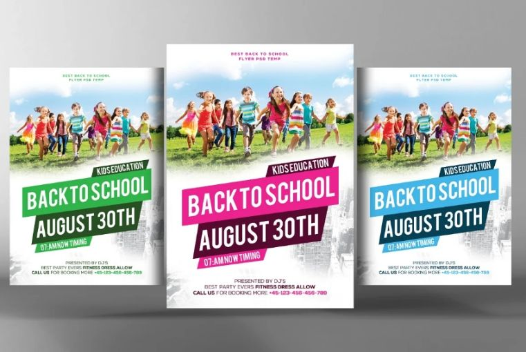 Back to School Ad Flyer Template