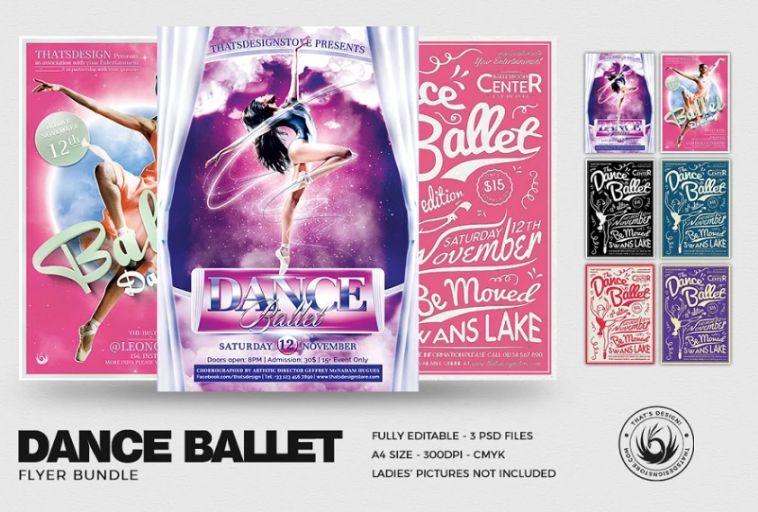 Ballet Dance Flyer Bundle