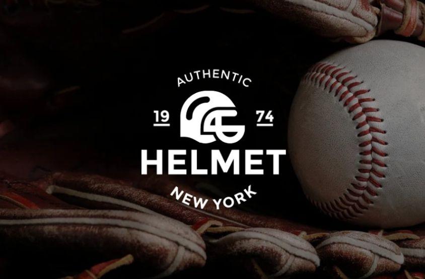 Baseball Helmet Logo Identity