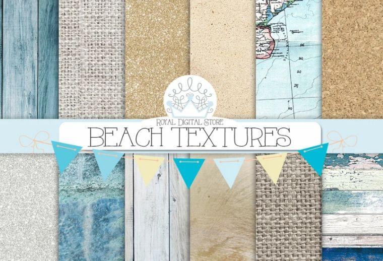 Beach Digital Paper Textures