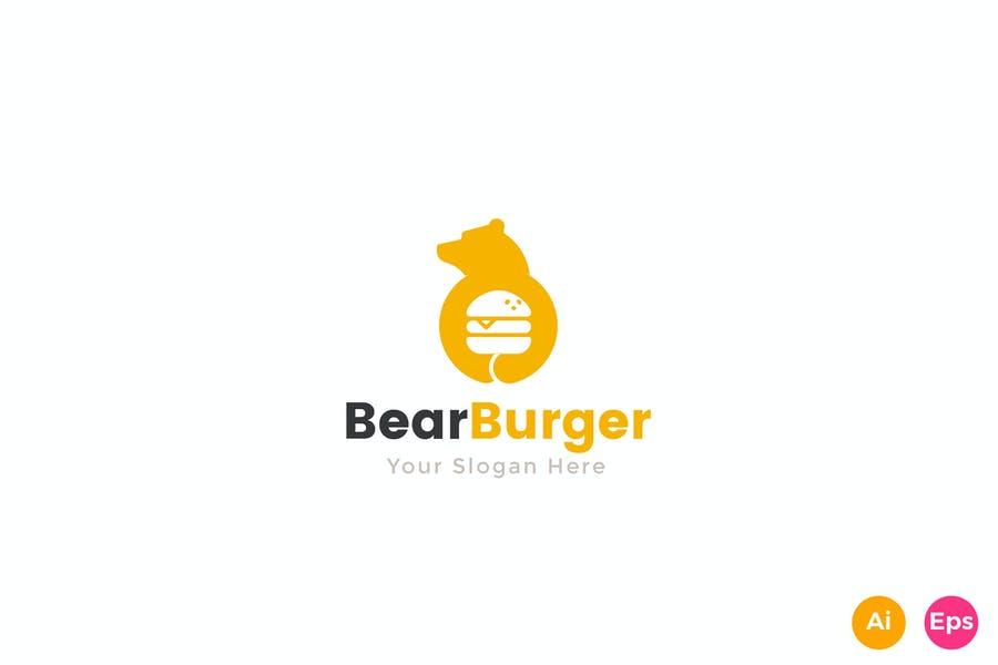 Bear Style Burger Logtype
