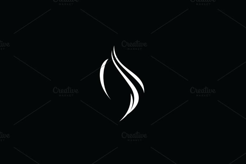 Beautiful Hair Cut Logo Identity