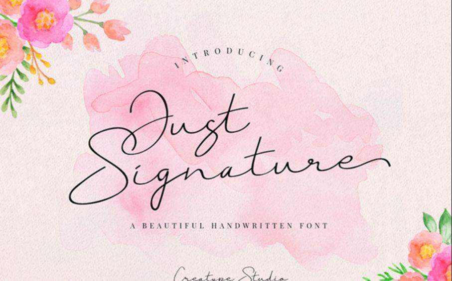 Beautiful Handwritten Typeface