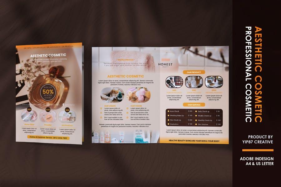 Bi Fold Salon Brochure Template