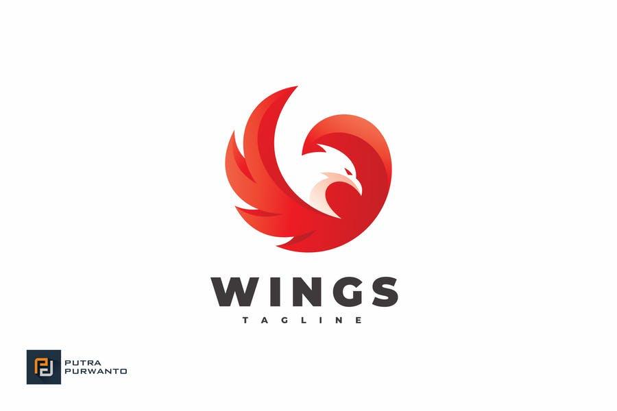 Bird Wings Logo Design