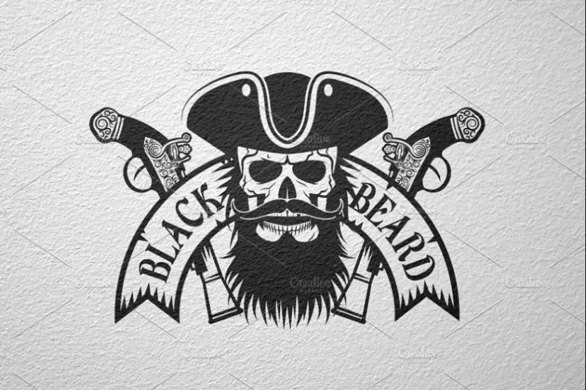 Black Beard Logo Design