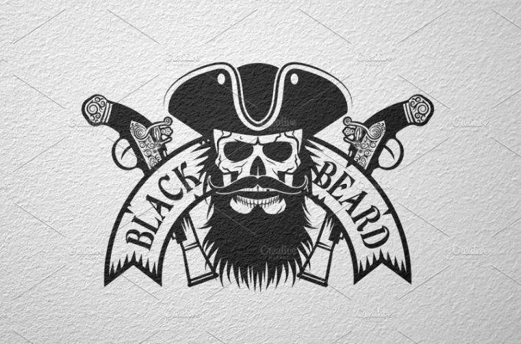 Black Beard Logo Identity