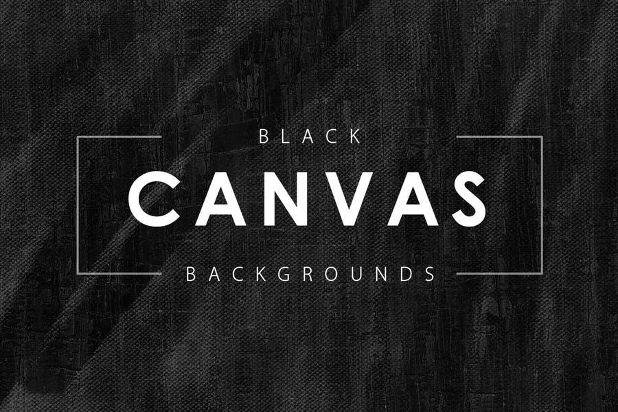 Black Canvas Background Design