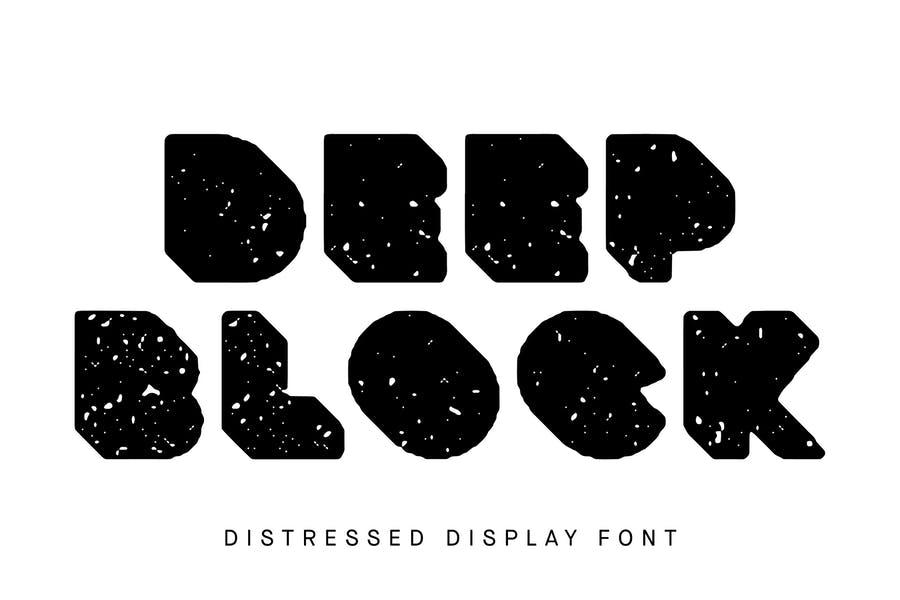 Block Distressed Typeface