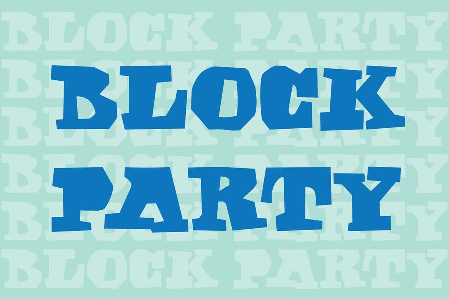 Block Style Party Typeface