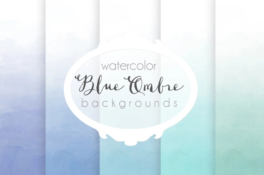 Blue Ombre Wallpaper Backgrounds