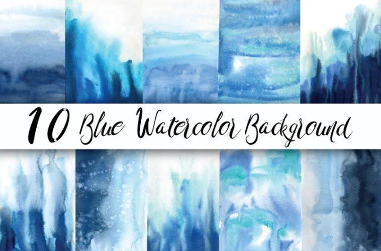 Blue Waterflow Backgrounds Design