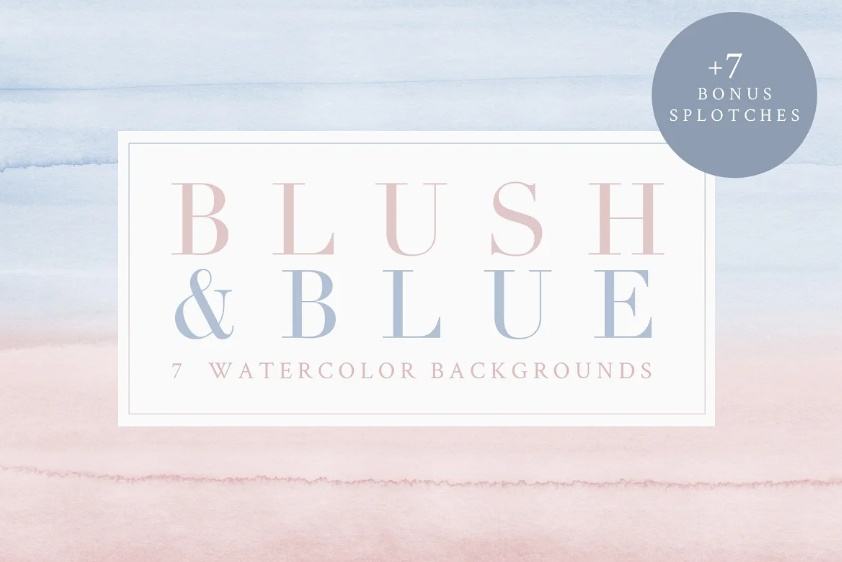 Blush Style Watercolor Backgrounds