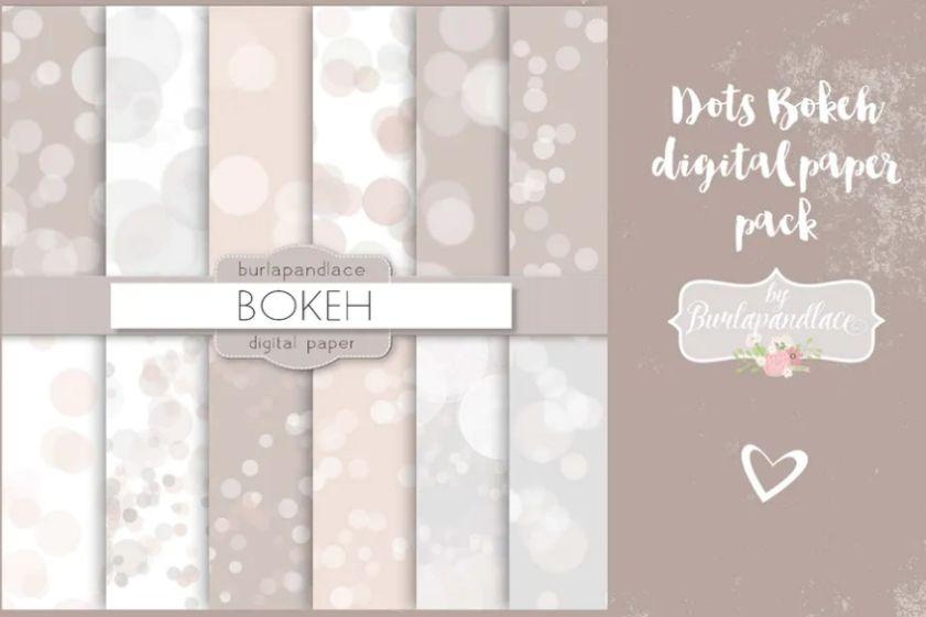 Bokeh Dots Background Design